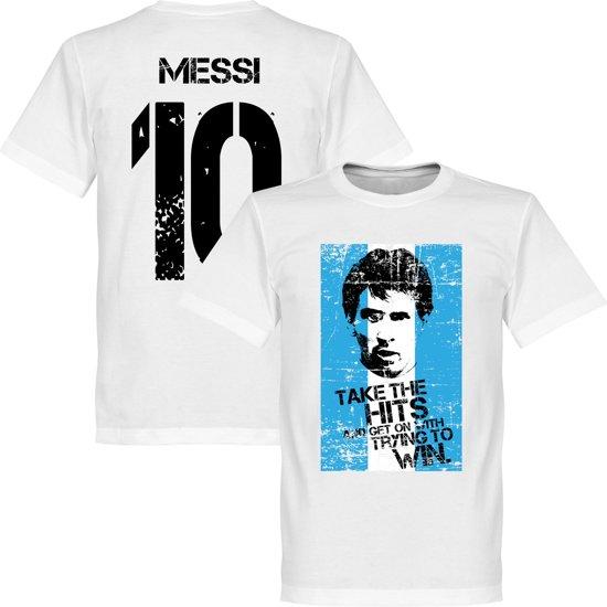 Messi 10 Argentinië Flag T-shirt - XS