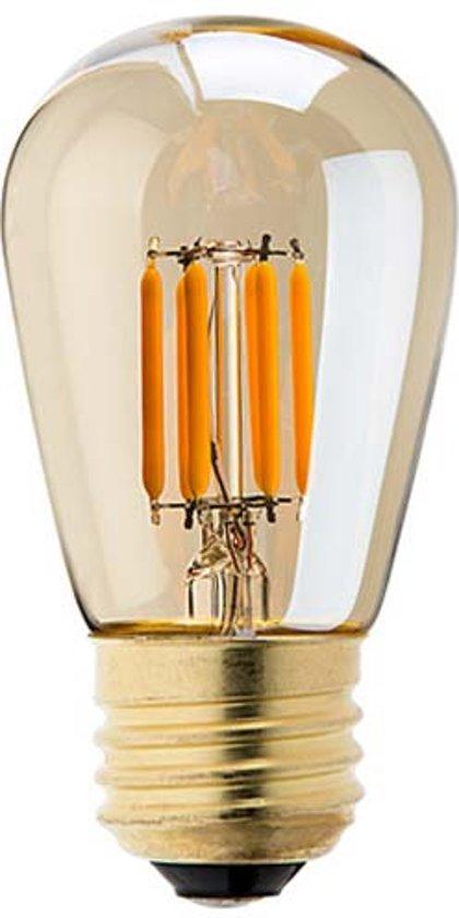 bol | vintage led lamp st45 3w gold 2200k dimbaar