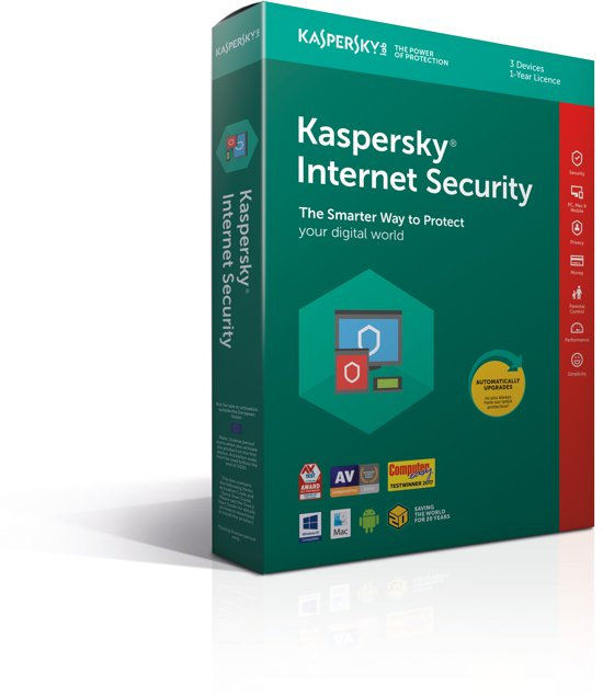 Kaspersky Internet Security 2018 - 3 Apparaten - Nederlands / Frans - Windows / Mac / Android