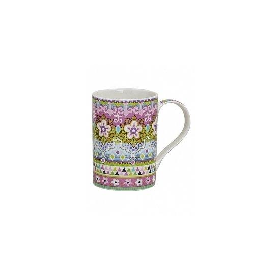 Flowers de luxe mok/beker roze 300 ml