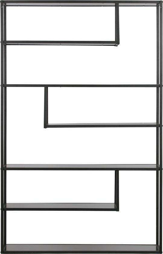 Woood Vakkenkast Teun XL B120 X D35 X H188 Cm - Metaal Zwart
