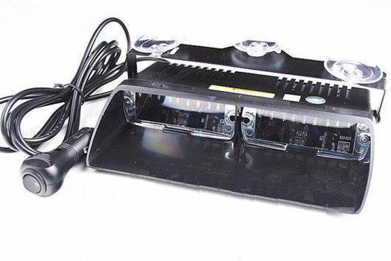 16 LED Dashboard Strobe Flash zwaailicht Oranje