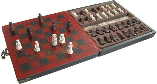 Schaakspel 'Qing-Keizers' Mini Zwart