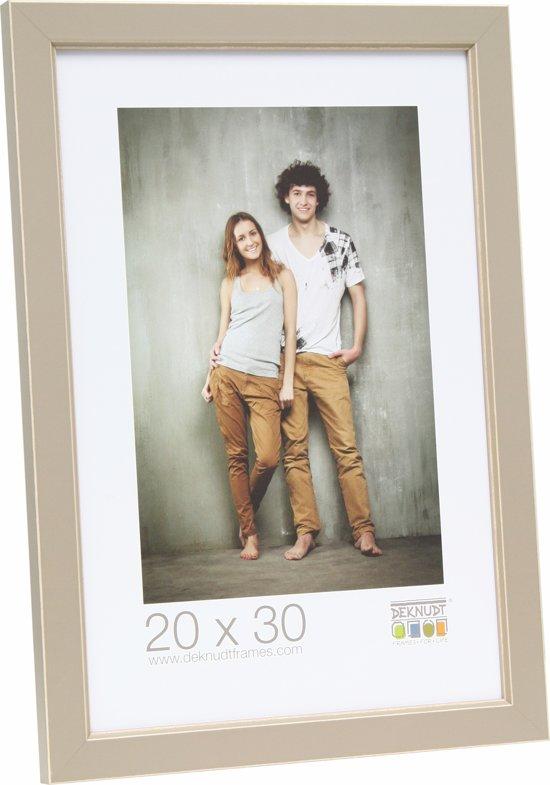 Bolcom Deknudt Frames Fotokader Met Biesjebeige Fotomaat 9x13 Cm
