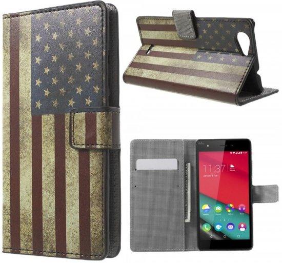 Wiko Pulp 4G Wallet Case - USA in Zandfort