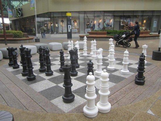 Afbeelding van het spel XXXL Giga Schaakset, tot 94 cm hoog, UV bestendig