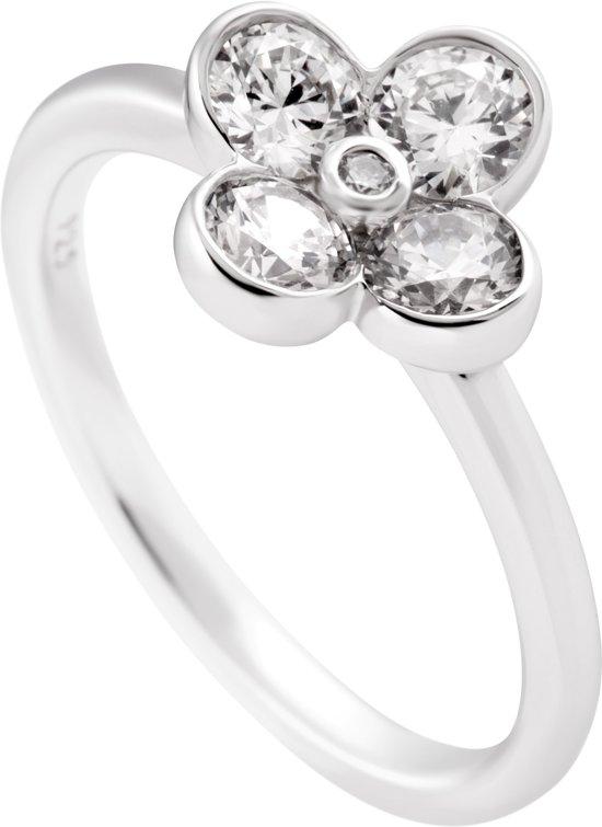 Diamonfire - Zilveren ring met steen Maat 16.0 - Bloem - 4 blaadjes