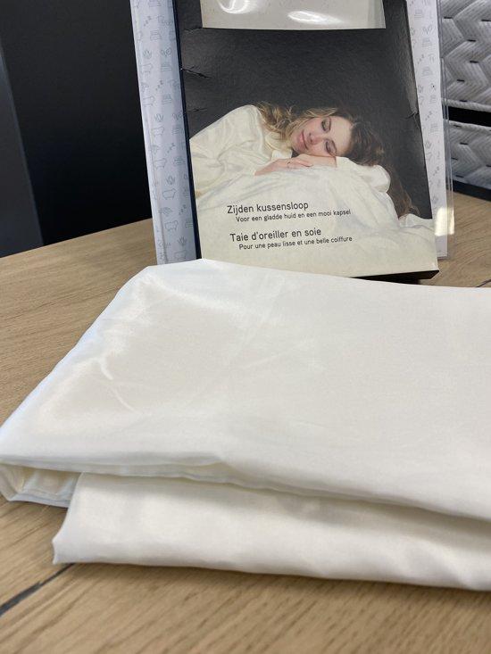 Zijden kussensloop, Crème wit, 60x70cm, Housewife-style 100% zijde, 600thread count(22momme)