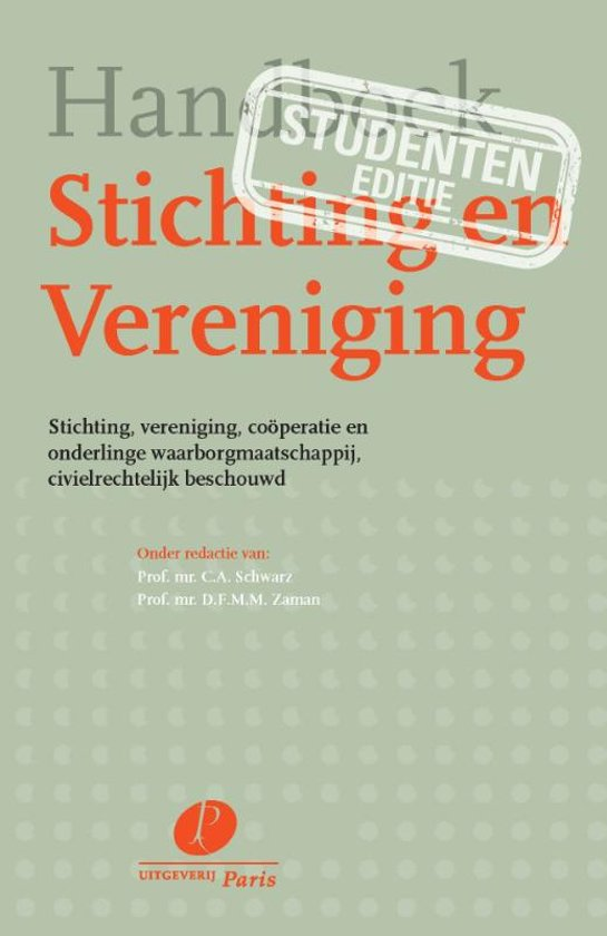 Boek cover Handboek Stichting & Vereniging Studenteneditie van  (Onbekend)