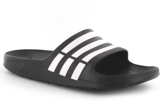adidas Duramo Slippers Volwassenen - Core Black / White / Core Black - Maat  42