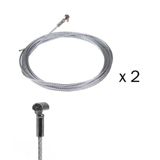 STAS cobra + staalkabel 200 cm (set van 2 stuks)