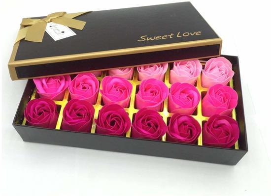 18 Rozen Zeepjes Rood Origineel Cadeau Voor Haar Perfect Cadeau Voor Valentijnsdag Verjaardagen