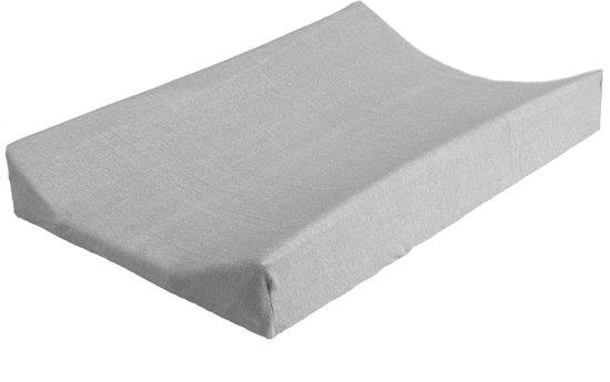 Jollein - Aankleedkussenhoes badstof 50 x 70 cm - Lichtgrijs