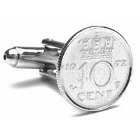 Manchetknopen Munt - 10 cent 1972