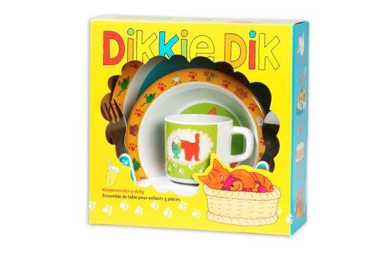 Dikkie Dik - Serviesset Melamine - Meerkleurig
