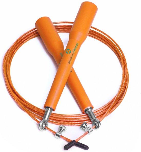 #DoYourFitness - Speed Rope - »Rapido« - Springtouw met stalen kabel - 300 cm - oranje