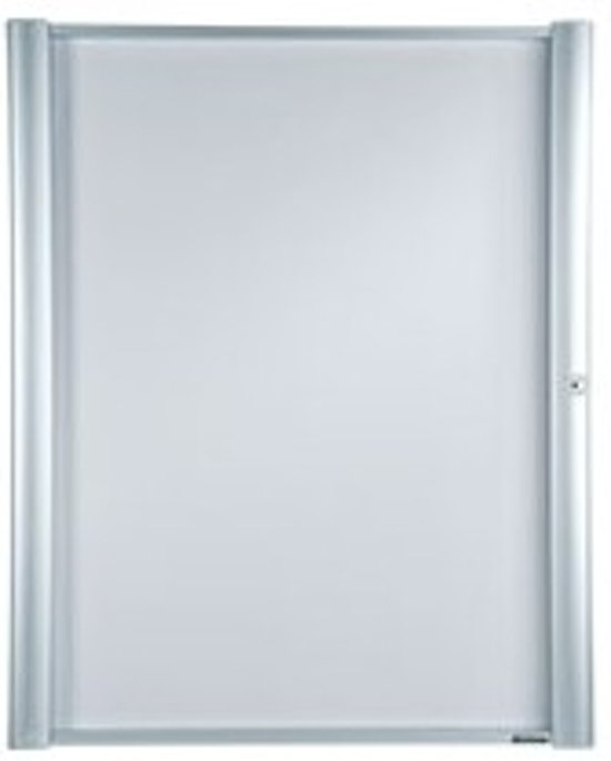 MAXIMUS ECONOMY vitrine, met acrylglazen deur, afsluitbaar, aluminium, 9 X A4