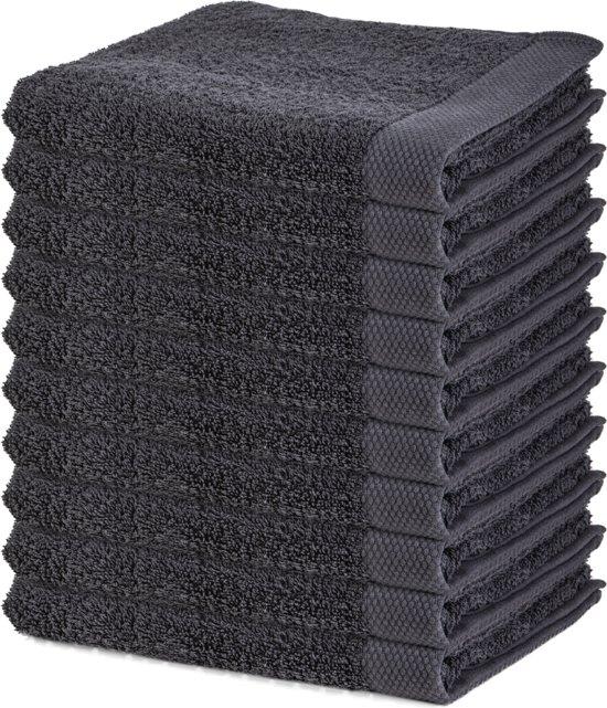 Badhanddoeken – 50x100 cm – Antraciet – 10 stuks