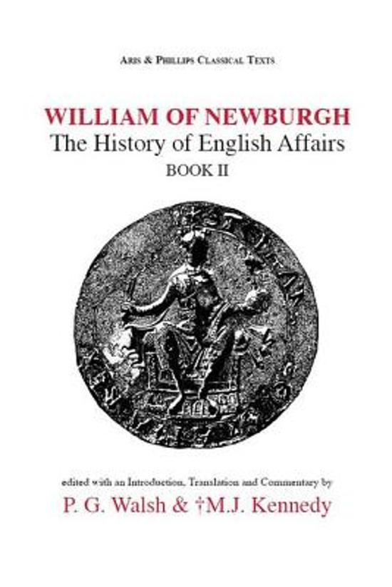 Boek cover William of Newburgh van P. G. Walsh (Onbekend)