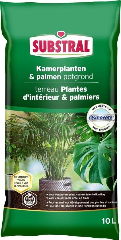Potgrond kamerplanten en palmen 10 liter - set van 3 stuks