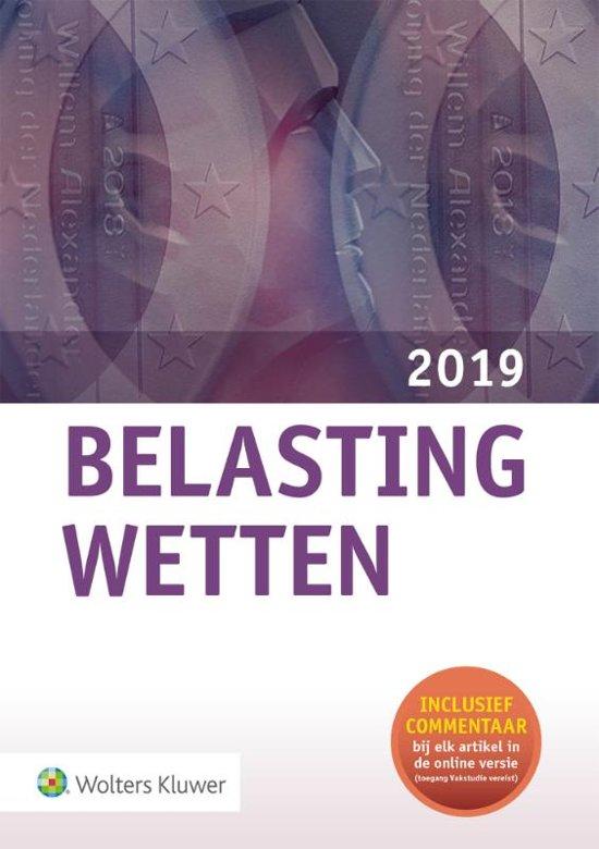 Boek cover Belastingwetten - pocketeditie 2019 van A.W. Cazander (Onbekend)