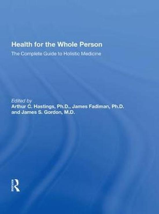 Health for the Whole Person
