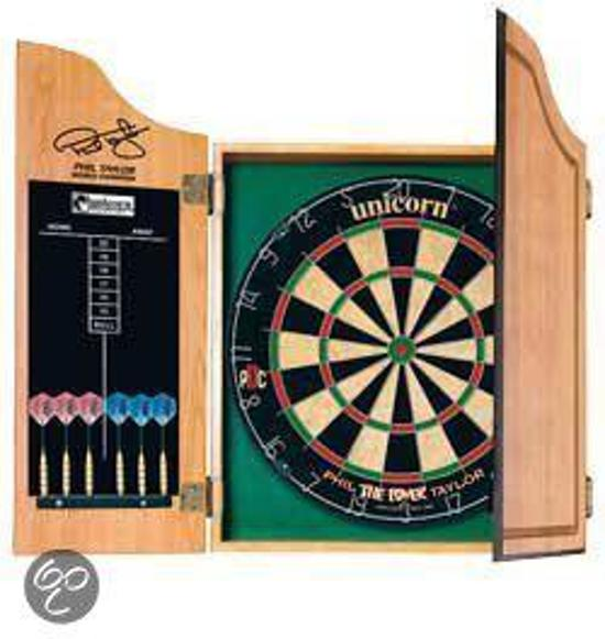 Bolcom Unicorn Phil Taylor Dartkabinet Inclusief