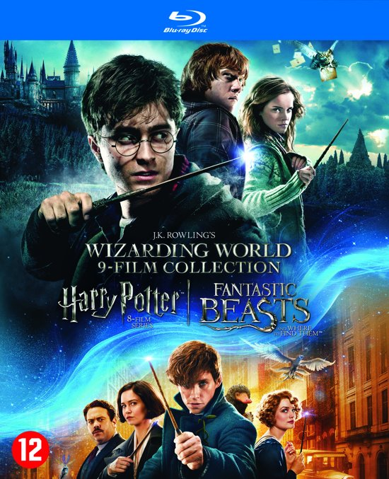 DVD cover van J.K. Rowlings Wizarding World 9-Film Collection (Blu-ray)