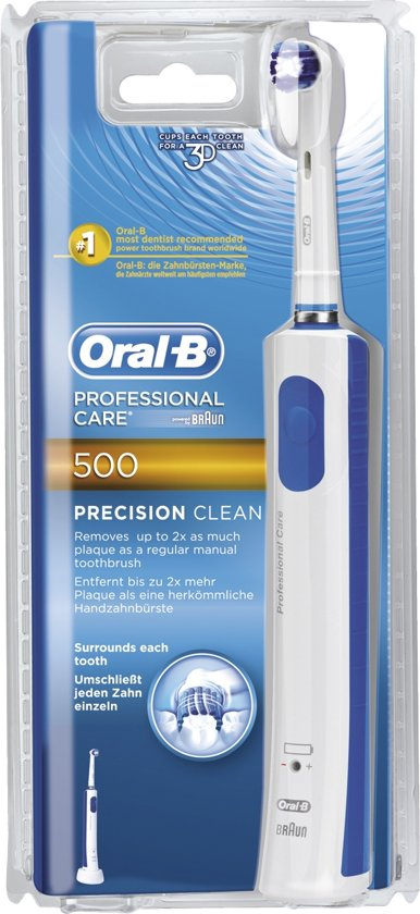 Comparer ORAL B CARE 500 PRECISION BLANC