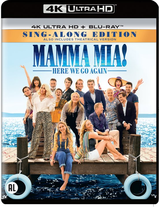 DVD cover van Mamma Mia! Here We Go Again (4K Ultra HD Blu-ray)