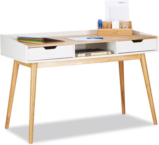 Bureau Scandinavisch Design.Bol Com Relaxdays Bureau Met Lades Computertafel