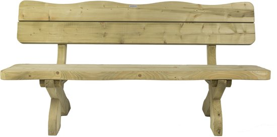 MaximaVida houten tuinbank landelijke stijl 170 cm- 60 mm houtdikte