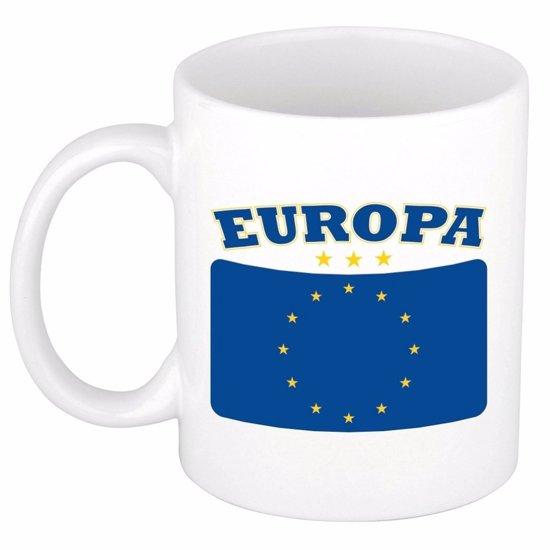 Beker / mok met de Europese vlag - 300 ml keramiek - Europa