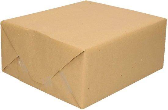 Inpakpapier bruin  500 x 70 cm op rol - cadeaupapier
