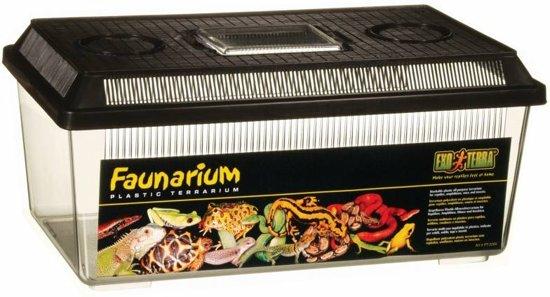 Exo Terra Terrarium Faunarium Laag - M - Zwart - 36 x 21 x 16 cm