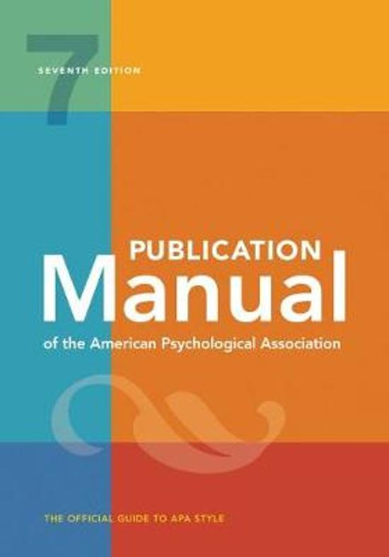 Afbeelding van Publication Manual of the American Psychological Association: 7th Edition, 2020 Copyright