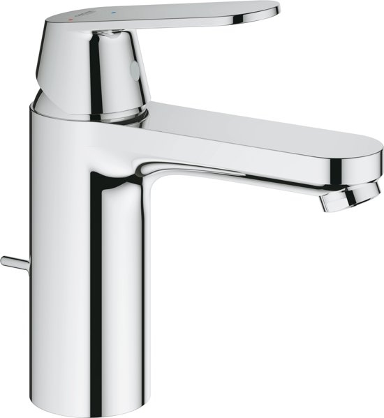 GROHE Eurosmart Cosmopolitan Wastafelkraan - Medium uitloop - Met trek-waste - Chroom