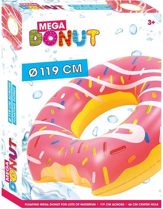 Opblaasband Donut - 119 cm - Roze