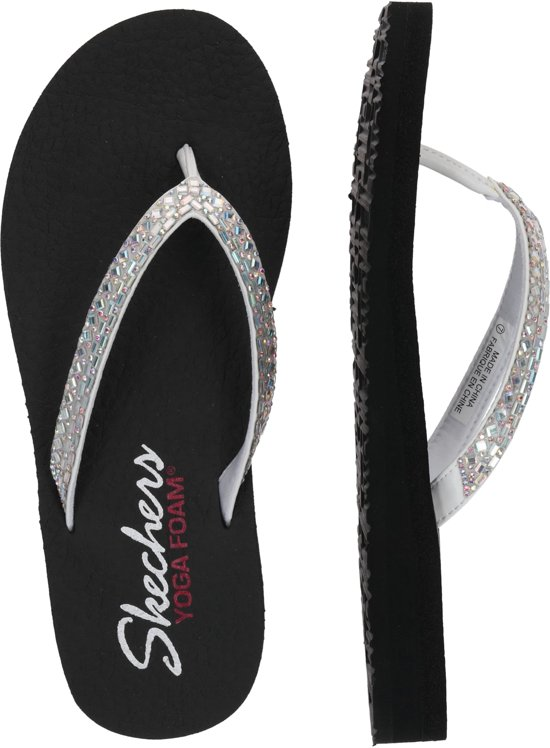 Skechers Meditation Shine Away Dames Sandalen - Wit