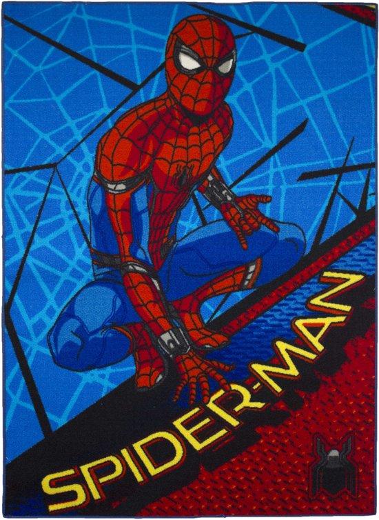 Marvel Vloerkleed Spider-man  95x133 Cm Blauw/rood