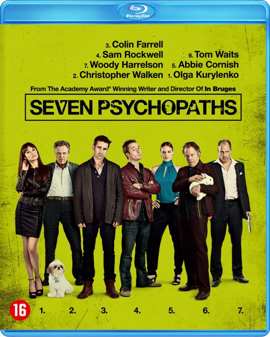 DVD cover van Seven Psychopaths (Blu-ray)