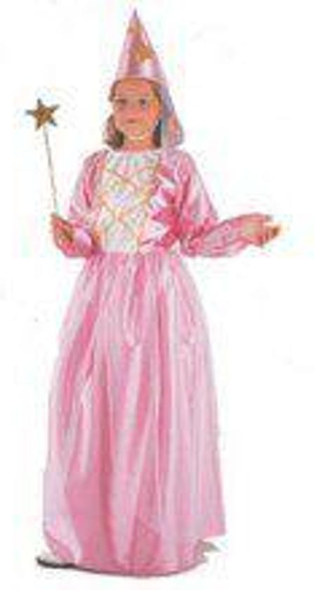 Prinsessen jurk roze 2 delig voor kinderen in de maat 104/ 116