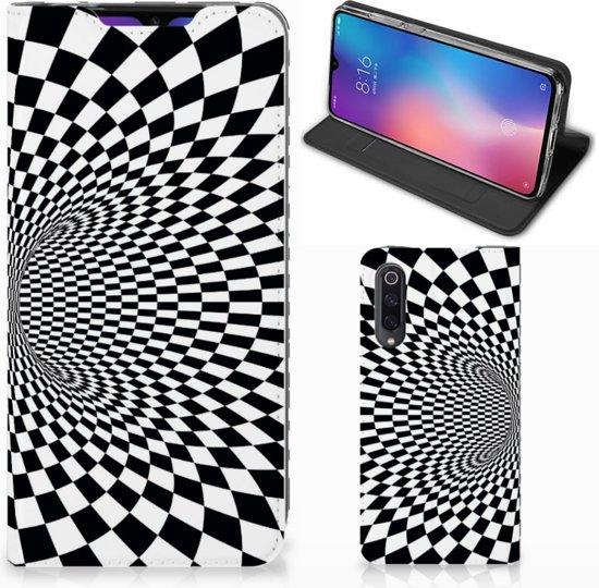Stand Case Xiaomi Mi 9 zwart-wit Design Illusie