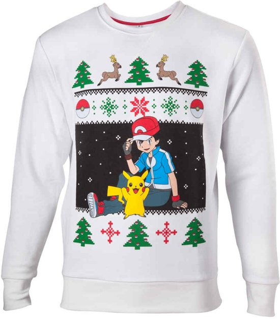 Warme Kersttrui.Bol Com Difuzed Pokemon Kersttrui Ash Pikachu Maat Xl Grijs