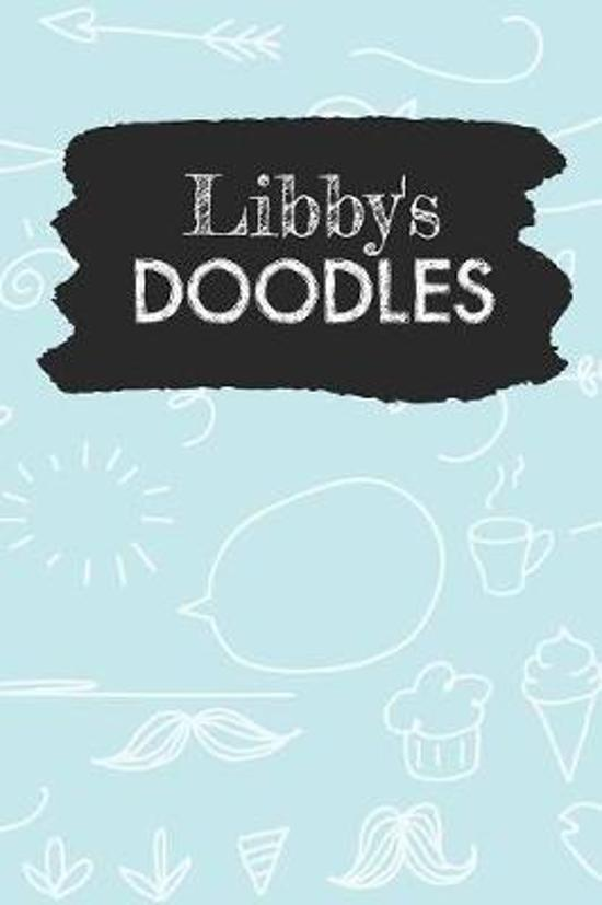 Libby's Doodles: Personalized Teal Doodle Notebook Journal (6 x 9 inch) with 110 dot grid pages inside.