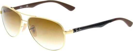 f88d2a7389 Ray-Ban RB8313 001 51 - zonnebril - Carbon Fibre - Goud Grijs