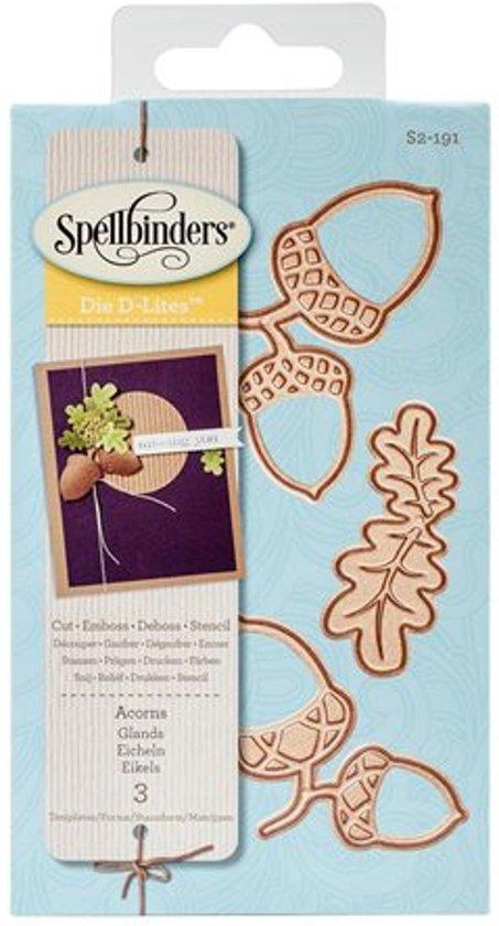 Spellbinders Shapeabilities Die D-Lites-Acorn And Oak Leaf S2-191.