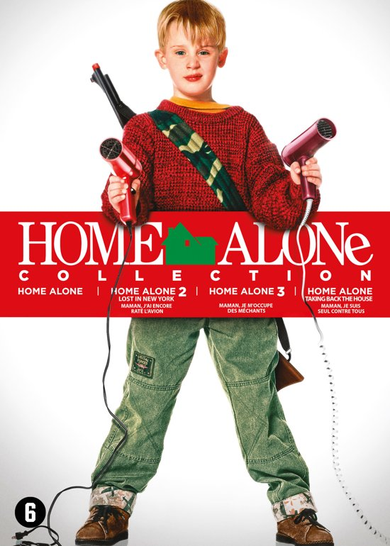 DVD cover van Home Alone 1 t/m 4