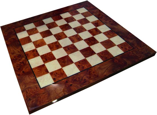 Luxe schaakset - Handbeschilderde Kruisvaarders schaakstukken + houten schaakbord - 66 x 66 cm