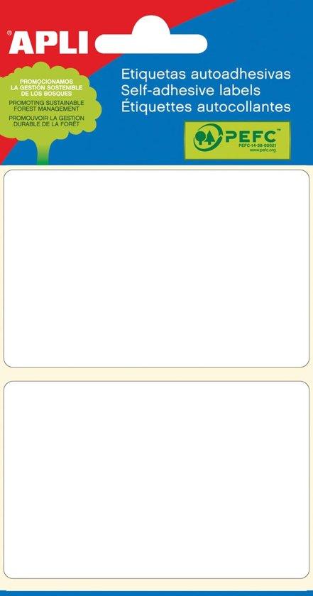90x Apli witte etiketten 53x82mm (bxh), 12 stuks, 2 per blad (2686)